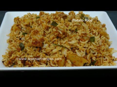 Potato Rice Lunch Box Recipe Youtube