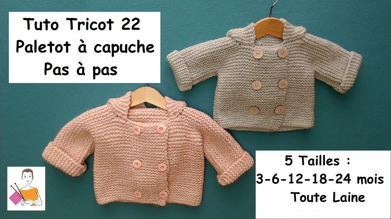 ccb7564a278e1 Tuto tricot 22 pas à pas   un paletot à capuche