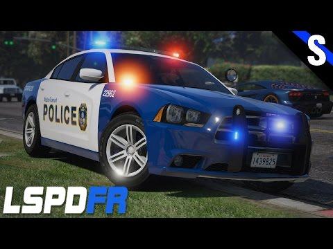 GTA V LSPDFR #136 Metro Transit Police Dodge Charger