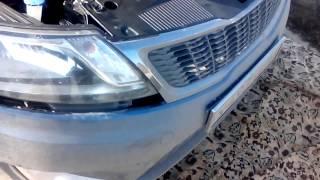 видео Как снять передний бампер Киа Рио-3