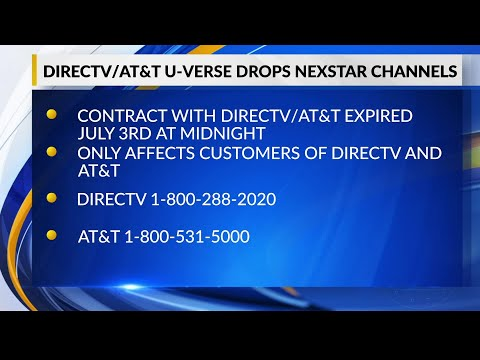 AT&T/Directv Blacks Out Local Nexstar TV Stations On July 4th After Rejecting Offers To Extend Acces
