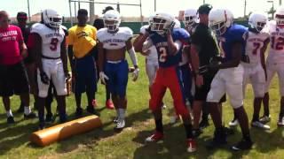 Football hitting drills