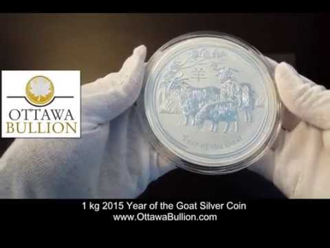 1 kg 2015 Year of the Goat Silver Coin  Ottawa Coin Dealers