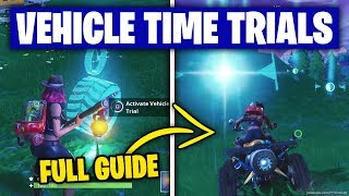 Fortnite 'Complete Vehicle Timed Trials' ALL LOCATIONS/WORKING GUIDE (Season 6 Week 10 Challenges)