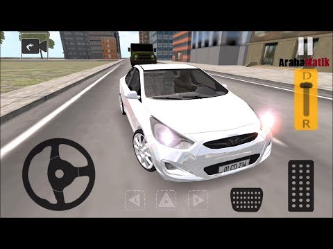 Hyundai Accent Blue Direksiyonlu Araba Oyunu // Popular Car Driving Android Gameplay FHD