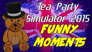 Tea Party Simulator 2015 Funny Moments - Bad Pirate Teddy , Glitch Chaos, Simulator Funny, PC Game
