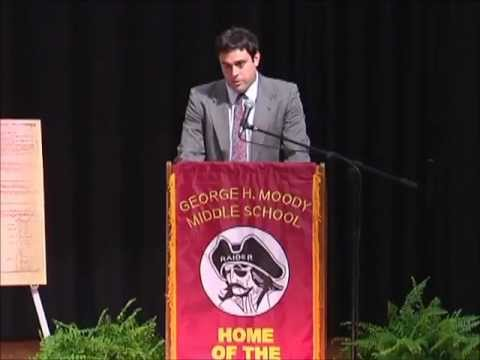 ACSF representative Matthew Creeger speaking at Moody Middle School dedication.wmv