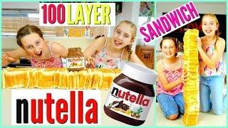 100 Layer Challenge - 100 NUTELLA SANDWICHES!