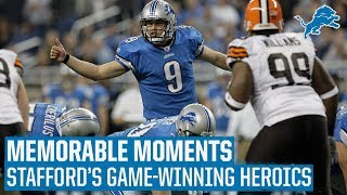 Matthew Stafford's 2009 Game-Winning Heroics vs. Browns | Memorable Moments #TBT