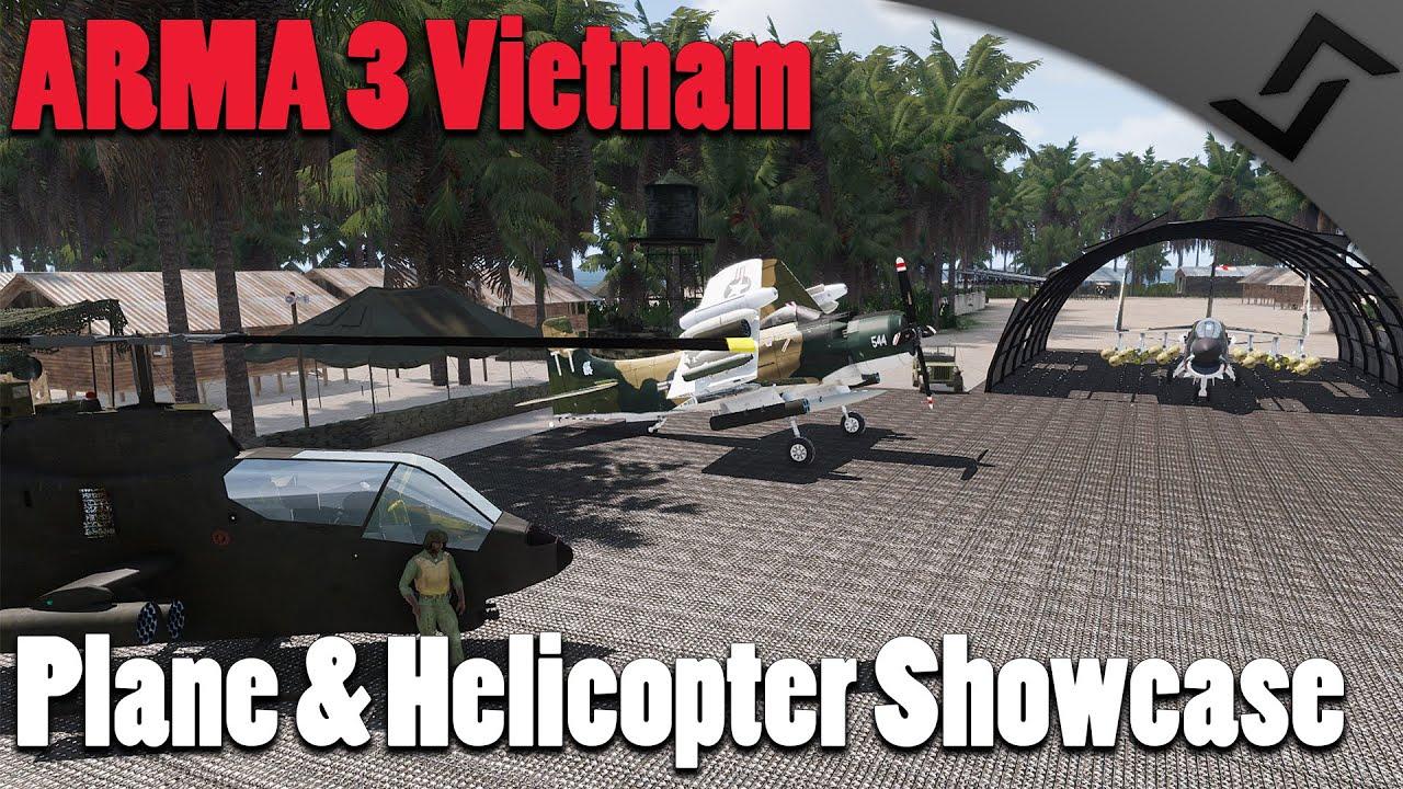 Plane & Helicopter Showcase - ARMA 3 - Unsung Vietnam Mod Gameplay