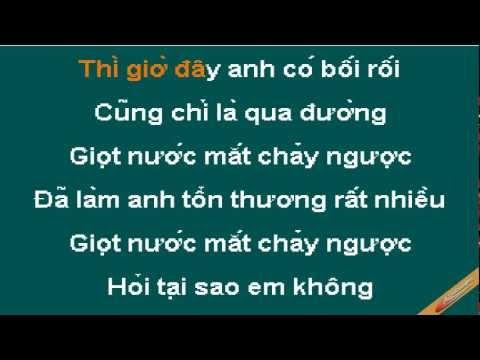 Giot Nuoc Mat Chay Nguoc Karaoke - Mbk - CaoCuongPro