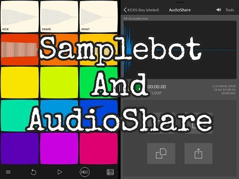 SAMPLEBOT How To Import Your Own Samples From AUDIOSHARE - iPad Demo