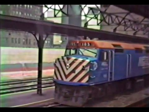 Trains of Chicago - Metra RI ride - September 7 1990