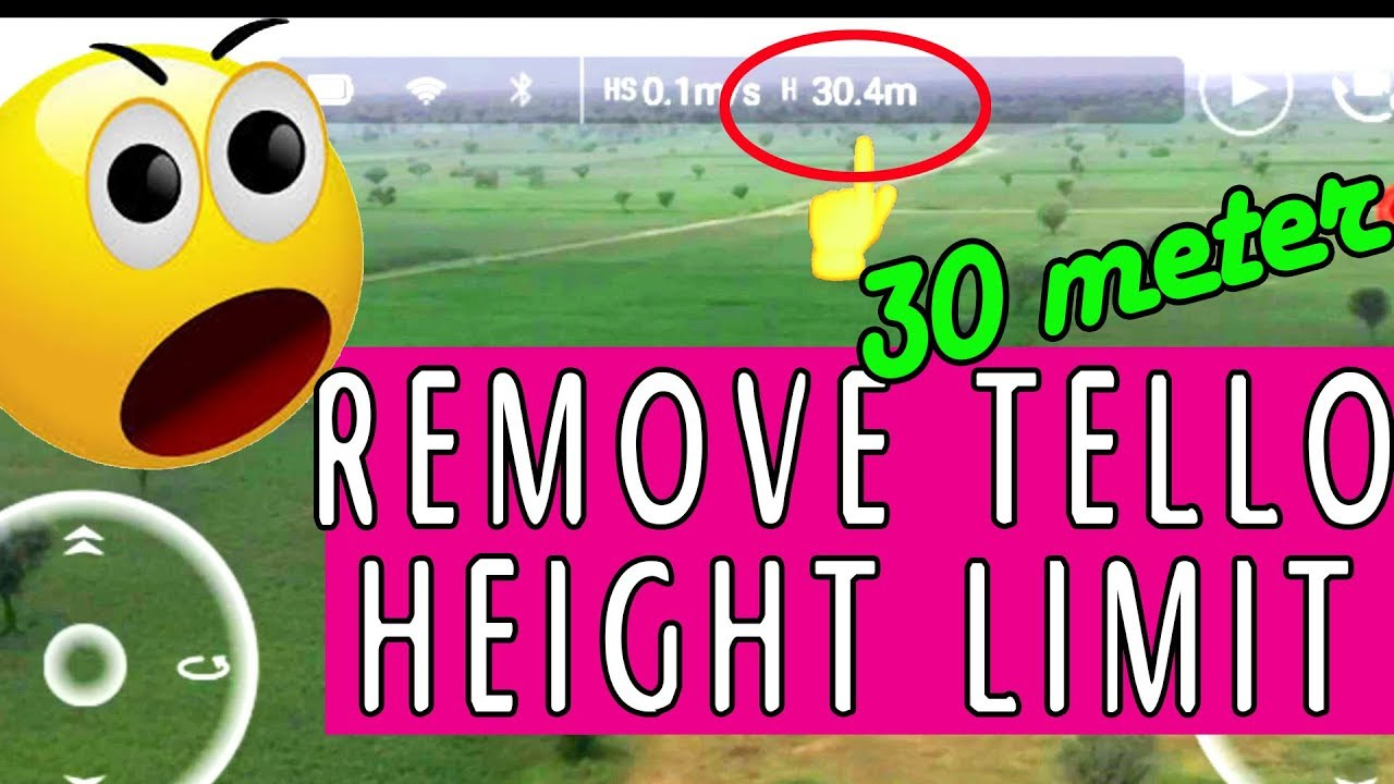 DJI RYZE TELLO How to remove 10 meter limitation and get 30 meter height