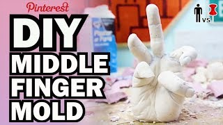 DIY Middle Finger Mold - Pinterest Test - Man Vs Pin #68
