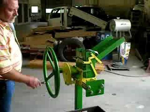 mechanical can crusher - YouTube