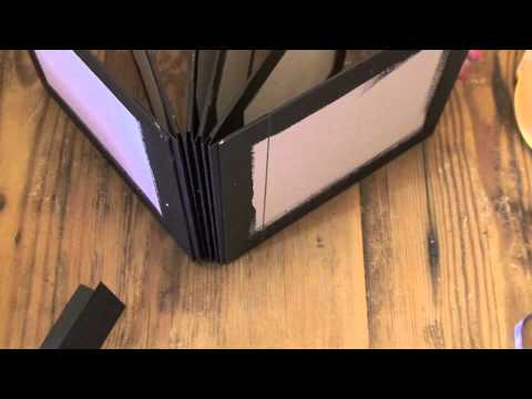 How to bind chipboard pages into a mini album