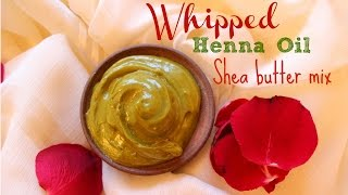 whipped shea butter and henna infused coconut oil mix for hair growth
