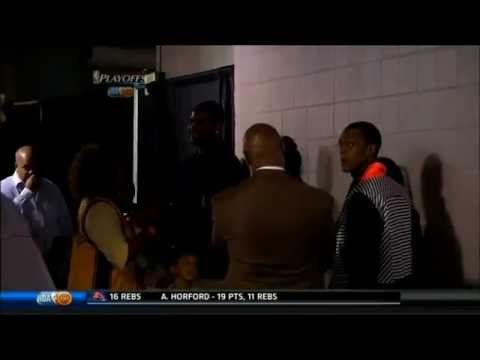 Rajon Rondo Gets Upset At Cameraman For Filming Him After His Press Conference