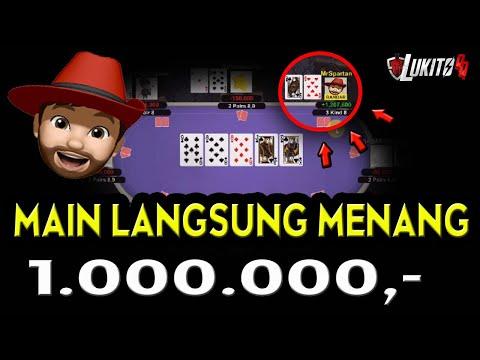 Fantastis !!! Pertama Kali Main Bandar Poker Online Mr Spartan Langsung Menang 1 Juta