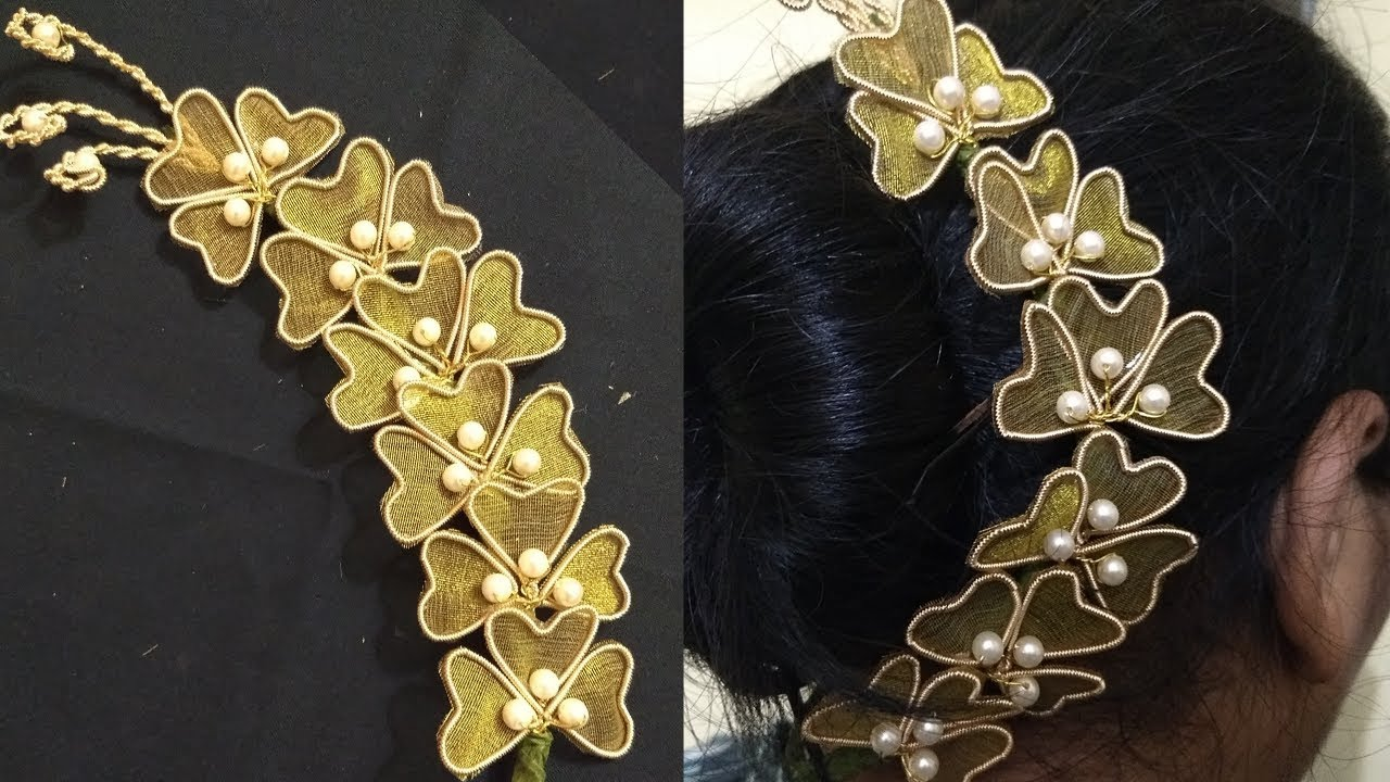 Hair brooch making at home | Hair brooch design | Hair ...