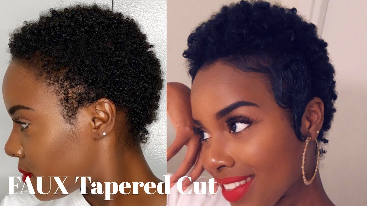 Faux Tapered Cut Slayed Edges On Short Natural Hair Creme Of Nature Perfect Edges Nia Hope Youtube