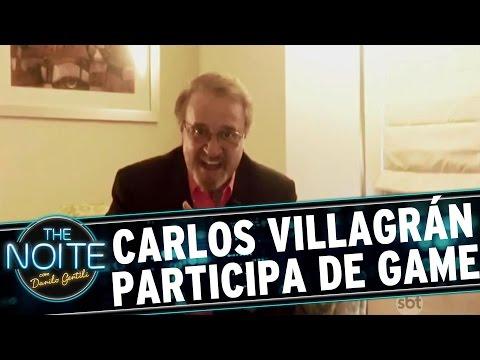 The Noite (18/08/16) - Carlos Villagrán envia pergunta aos participantes