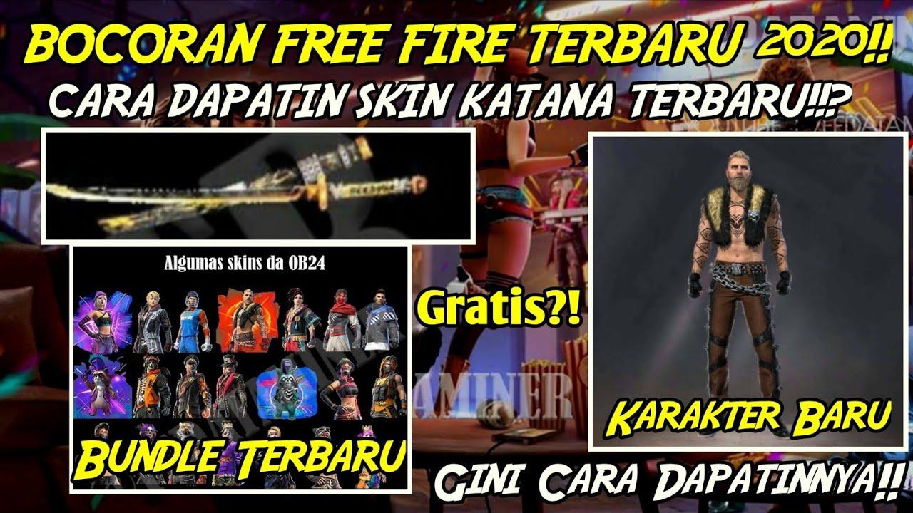 GRATIS?!! CARA DAPATIN SKIN KATANA TERBARU 2020 | BOCORAN KARAKTER TERBARU FREE FIRE!!