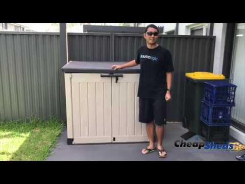 chunnan showed us his shed keter store it out max review. Black Bedroom Furniture Sets. Home Design Ideas