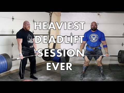 HEAVIEST DEADLIFT SESSION EVER | 4X WSM BRIAN SHAW | JF CARON