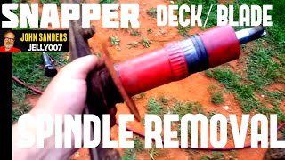 Snapper lawn mower deck spindle removal