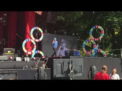 Coldplay - Viva La Vida - Global Citizen Rehearsal, Central Park, NYC 9.25.2015