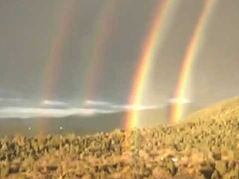 giant quadruple rainbow started as a triple youtube