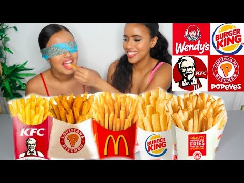 GUESSING FAST FOOD FRIES BLINDFOLDED! 🍟