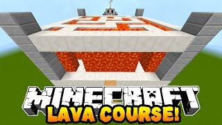 Minecraft LAVA OBSTACLE COURSE! (Custom Parkour Map) w/ PrestonPlayz & Kenny