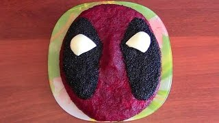 Как сделать съедобную голову Дэдпула / Edible head Deadpool