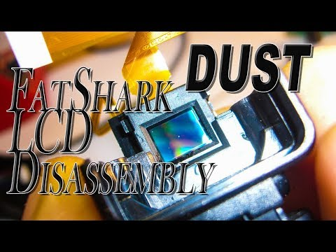 HOW TO Disassembly - FATSHARK Attitude V2 LCD / lens /optics tutorial - Clean dust particles