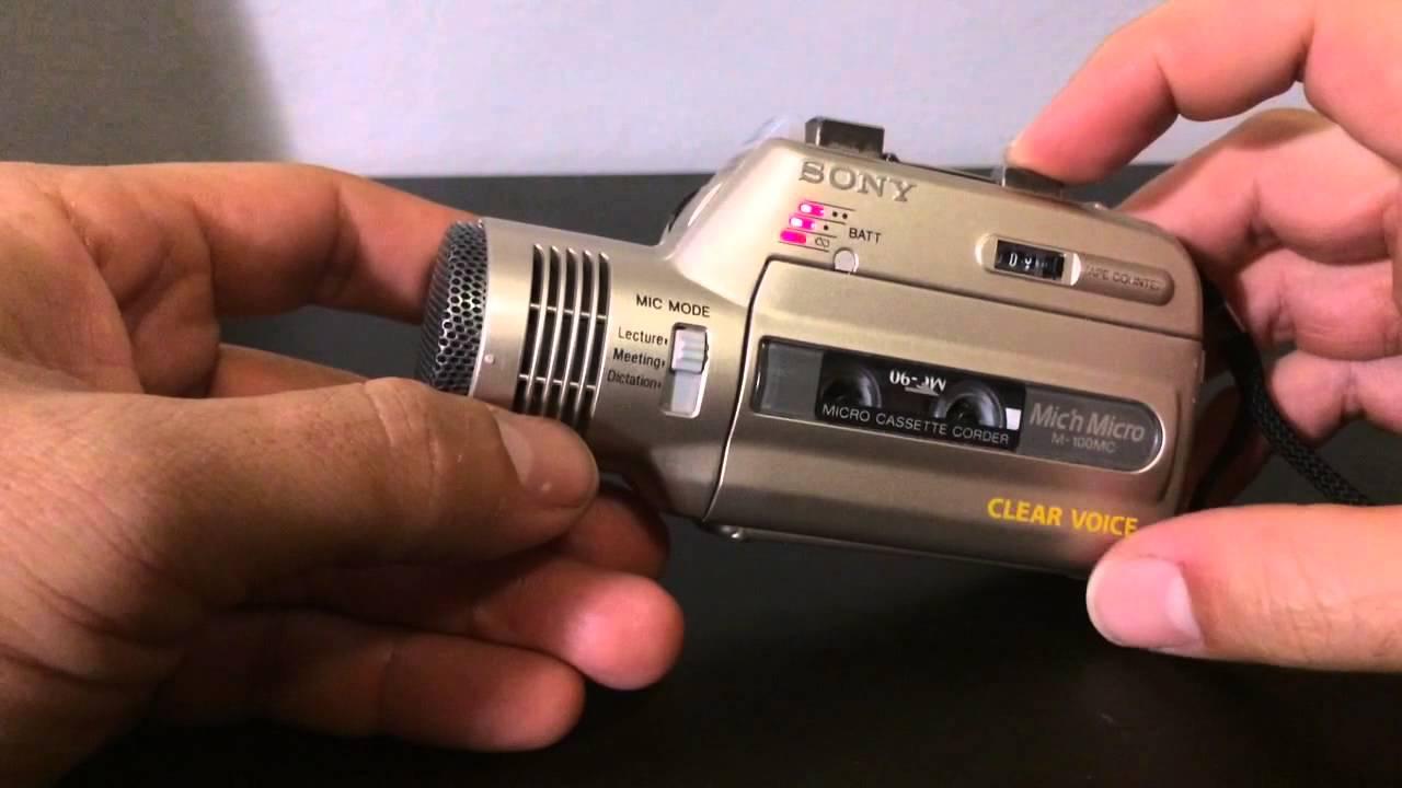 sony micro cassette recorder m 100mc youtube. Black Bedroom Furniture Sets. Home Design Ideas