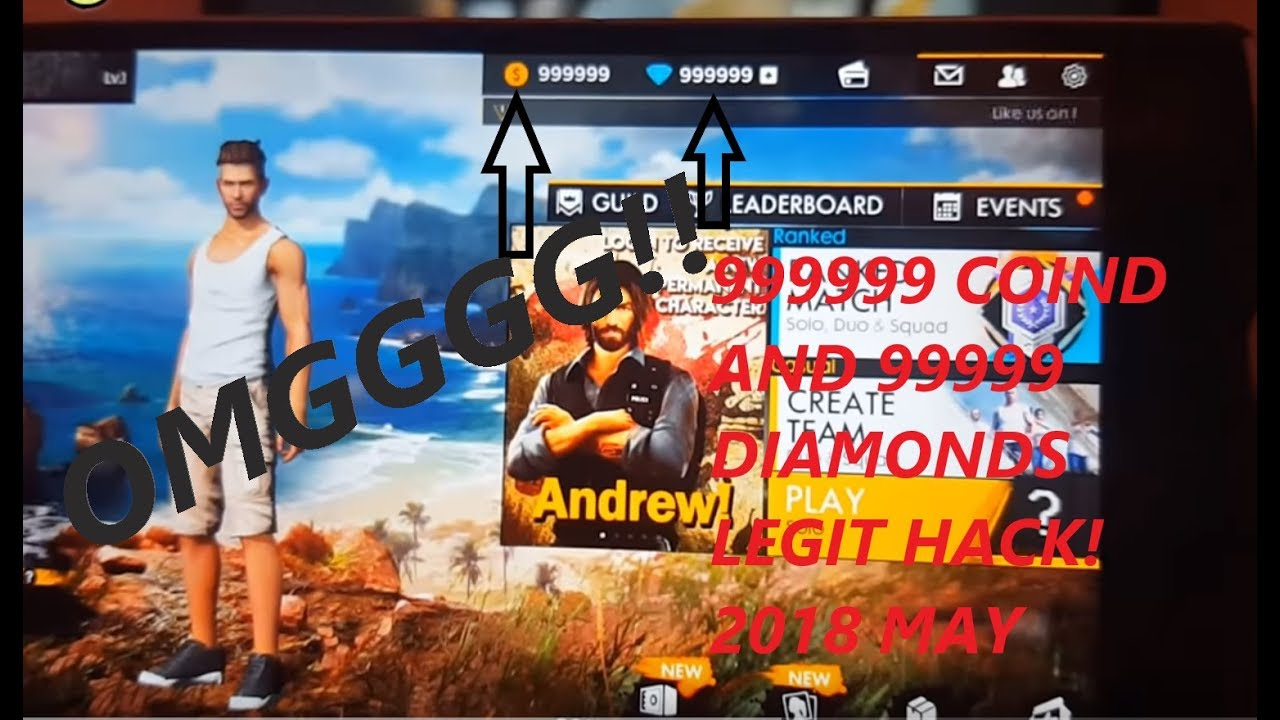 Garena Free Fire Battlegrounds Cheats Free Coins & Diamonds(EASIEST HACK  UNDER 3 MINUTES legit)