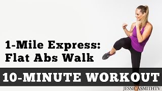 1 Mile Express Abs Walk  Low Impact Cardio Core Workout You Can Do At Home In a Small Space!