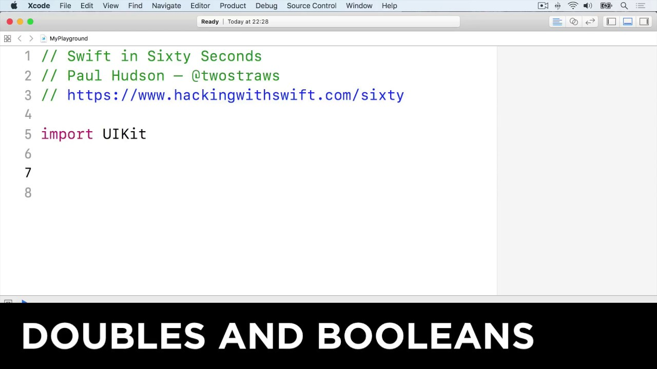 Doubles and booleans – Swift in Sixty Seconds