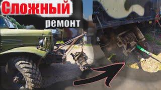 Большой ремонт Урал 4320, замена лебёдки не снимая КУНГ!