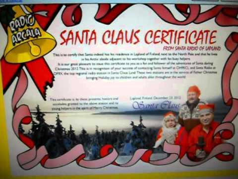 OF9X - Official Santa Claus HQ - Muonio Lapland - FINLAND - 10:19 utc- 17-Dec-2012 - 20 meters band