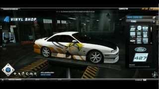 Need For Speed World Anime Art Vinyl tutorial: Nissan 200SX S14, Naruto Uzumaki