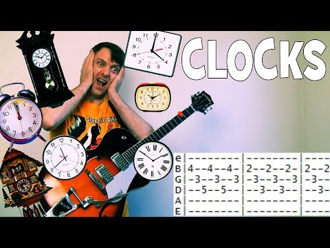 How To Play Coldplay Clocks Guitar Lesson Tab Chords