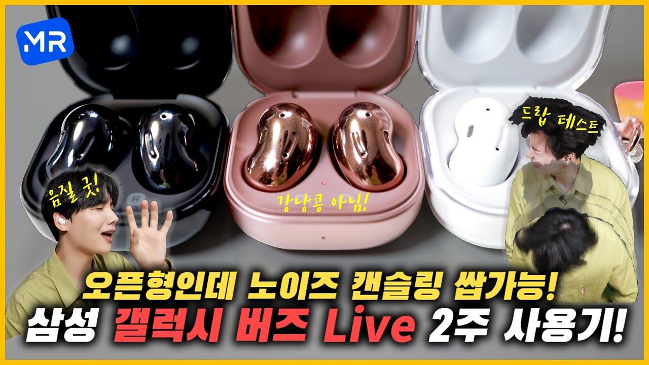 삼성이 개발한 강낭콩! 오픈형+노이즈 캔슬링+21시간 재생! [갤럭시 버즈 라이브 전색상 2주 사용기!]