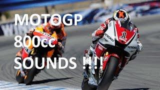 MotoGP 800cc Sound - Yamaha M1 Honda RC212V Suzuki Ducati bikes Engine Exhaust Rossi Lorenzo Marquez