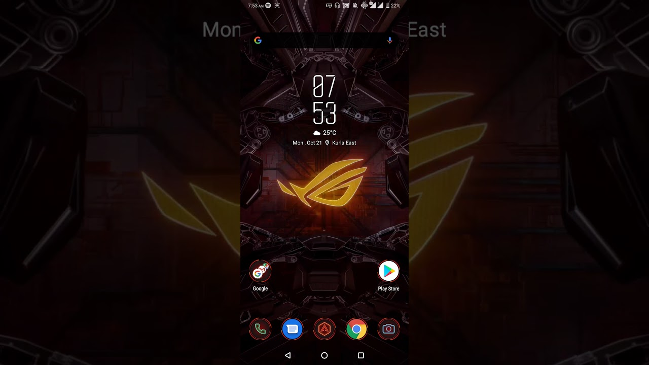 How To Change Asus Rog Phone 2 Wallpaper X Mode On Youtube