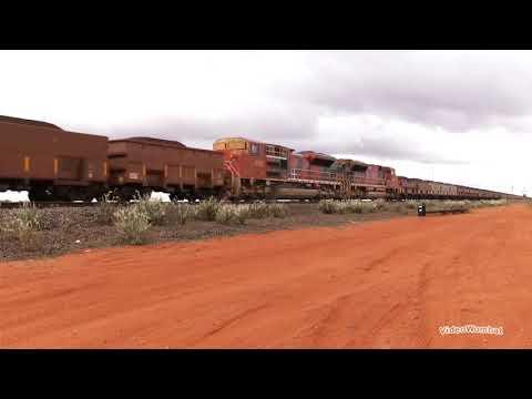 BHP Billiton Iron Ore Train 7300m
