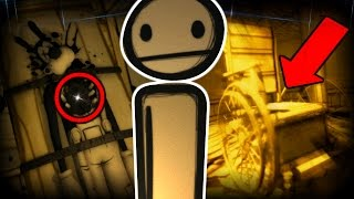 WHEELCHAIR!? BENDY'S SECRETS REVEALED.. | Bendy And The Ink Machine Chapter 1 and 2 SECRETS & UPDATE